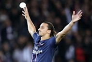 A brace from star striker Zlatan Ibrahimovic, pictured on September 18, helped to propel Paris Saint Germain to a 4-0 romp at Bastia on Saturday as the capital club moved into provisional third spot in Ligue 1