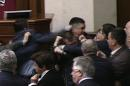 Brawl breaks out among Ukraine lawmakers