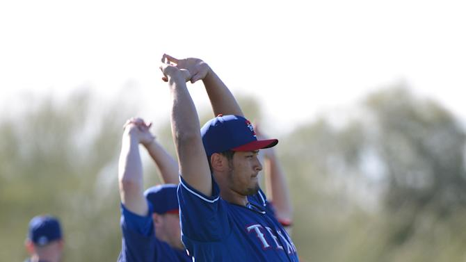 MLB: Texas Rangers-Workout