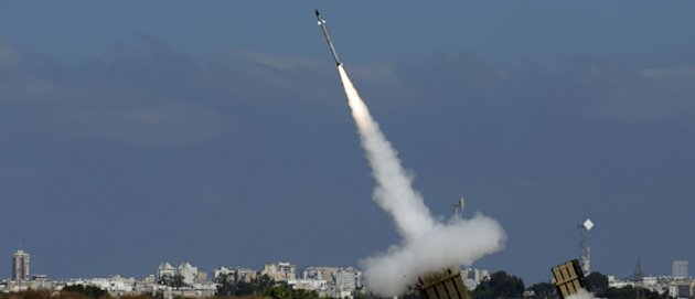 Watch Israel's Iron Dome Intercept And Destroy 15 Hamas Rockets [VIDEO]