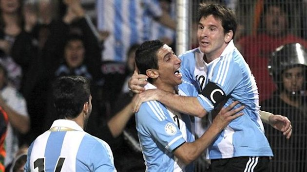 Lionel Messi and Angel Di Maria, Argentina, October 2012