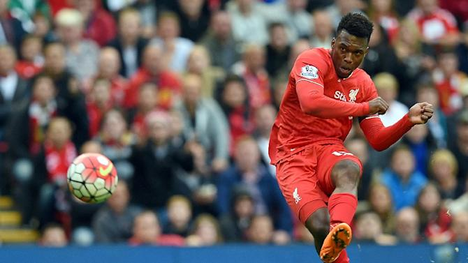 Liverpool's striker Daniel Sturridge in action during the English Premier League football match between Liverpool and Norwich City at the Anfield stadium in Liverpool on September 20, 2015