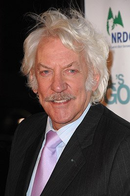 Donald Sutherland at the Hollywood premiere of Warner Bros. Pictures' Fool's Gold