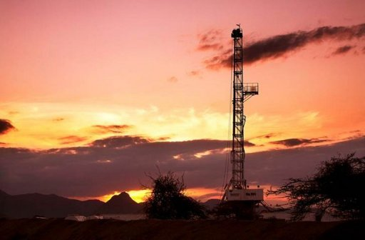 <p>An oil rig in Kenya. World oil prices dropped on Wednesday as traders looked ahead to the latest weekly snapshot of US crude inventories and a European Union summit centred on the eurozone debt crisis. Brent North Sea crude for delivery in August fell 57 cents to $92.45 a barrel in London midday deals.</p>