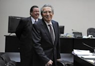 <p>Former Guatemalan leader Jose Efrain Rios Montt, is seen during a court hearing in Guatemala City on January 23, 2013. A judge ordered he be tried for genocide of the country's indigenous populations during his 1982-83 regime.</p>