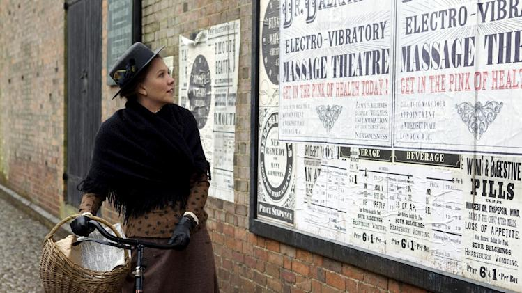 "In this film image released by Sony Pictures Classics, Maggie Gyllenhaal portrays Charlotte Dalrymple in a scene from ""Hysteria."" (AP Photo/Sony Pictures Classics, Liam Daniel)"