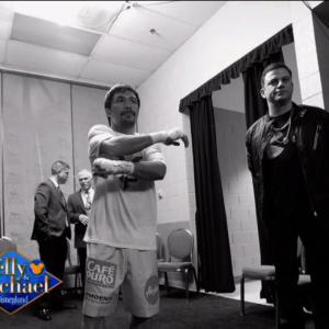 Manny Pacquiao's 'Hype Man' Jimmy Kimmel Shares Backstage Details