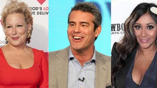 Bette Midler, Andy Cohen, Nicole 'Snooki' Polizzi -- Getty Images