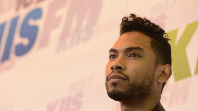 """FILE - In this May 11, 2013 file photo, singer Miguel arrives at Wango Tango 2013 at The Home Depot Center in Carson, Calif. Miguel was arrested by the by California Highway Patrol on suspicion of misdemeanor drunk driving early Thursday morning, Aug. 15, 2013. A spokeswoman for the department said the 27-year-old """"Adorn"""" crooner was pulled over in his BMW X6 for speeding and driving with tinted windows just after 2 a.m. (Photo by Dan Steinberg/Invision/AP, File)"""