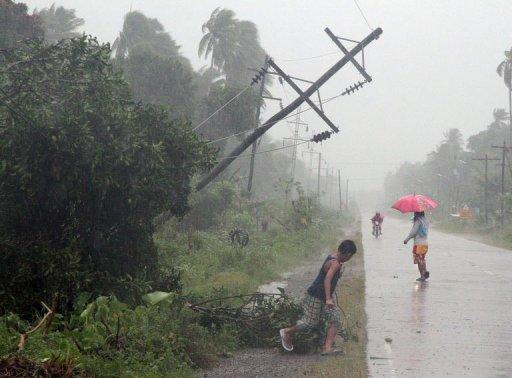 Typhoon Bopha is expected to dump more rain as it passes over the western island of Palawan on Wednesday
