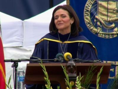 Facebook exec Sandberg urges graduates to build resilience
