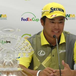 Hideki Matsuyama news conference after winning Waste Management