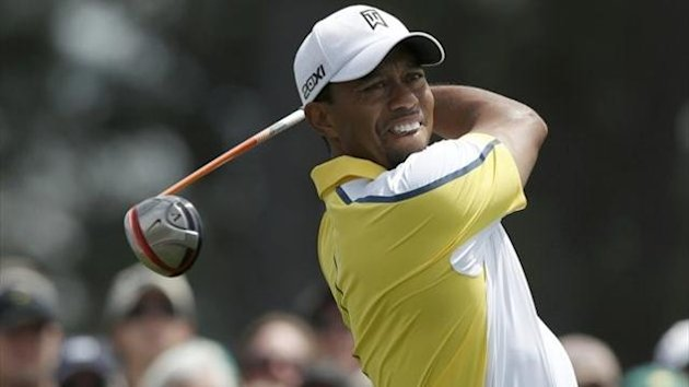 Tiger Woods in the second round at Augusta