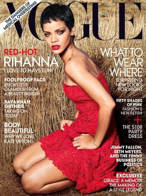 Rihanna on Vogue's September 2012 cover -- Annie Leibovitz/Vogue
