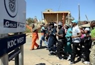 <p>Striking Gold Fields mine workers march in September 2012 in Carletonville, west of Johannesburg. President Jacob Zuma waded into South Africa's churning labour crisis with a call for striking miners to return to work and for CEOs to freeze their pay, amid months of industrial unrest and bloodshed that threaten to derail the nation's economy.</p>