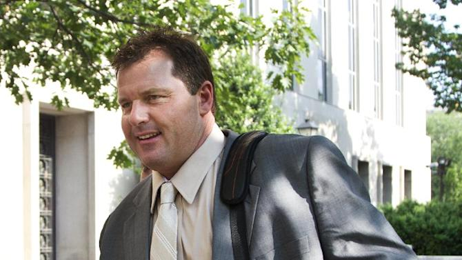 Former Major League Baseball pitcher Roger Clemens, who is accused of lying to Congress in 2008 when he denied using performance-enhancing drugs, leaves federal court in Washington, Friday, May 25, 2012. A forensic scientist testified Friday that two cotton balls and a syringe needle allegedly saved after a steroids injection tested positive for Roger Clemens' DNA, a key moment as the government tries to prove the former pitcher used performance-enhancing drugs. (AP Photo/Manuel Balce Ceneta)
