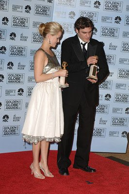 "Reese Witherspoon and Joaquin Phoenix Best Actress and Actor in a Musical or Comedy - ""Walk the Line"" 63rd Annual Golden Globe Awards - Press Room Beverly Hills, CA - 1/16/06"