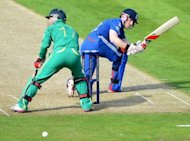 England&#39;s Eoin Morgan (R) nicks the ball past South Africa&#39;s AB de Villiers during their first Twenty20 match on September 8. &quot;&#39;Morgs&#39; is a fantastic player of spin. We&#39;ve seen him dominate it in the past -- it just didn&#39;t come off for us today,&quot; Stuart Broad said