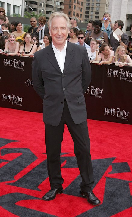 Harry Potter and the Deathly Hallows NY Premiere 2011 Alan Rickman