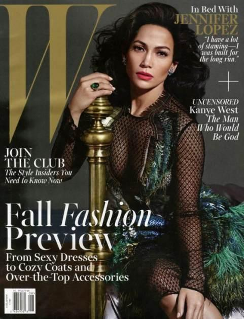 Jennifer Lopez on the cover of W Magazine (Aug. 2013) -- W Magazine