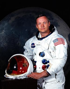 """FILE - In undated photo provided by NASA shows Neil Armstrong.  The family of Neil Armstrong, the first man to walk on the moon, says he has died at age 82. A statement from the family says he died following complications resulting from cardiovascular procedures. It doesn't say where he died. Armstrong commanded the Apollo 11 spacecraft that landed on the moon July 20, 1969. He radioed back to Earth the historic news of """"one giant leap for mankind."""" Armstrong and fellow astronaut Edwin """"Buzz"""" Aldrin spent nearly three hours walking on the moon, collecting samples, conducting experiments and taking photographs. In all, 12 Americans walked on the moon from 1969 to 1972.  (AP Photo/NASA)"""