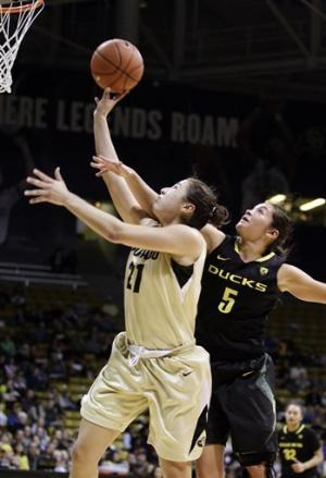 No. 21 Colorado women rout Oregon 84-59