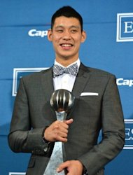 Jeremy Lin, seen here posing with the &#39;Best Breakthrough Athlete&#39; award, in the press room during the 2012 ESPY Awards at Nokia Theatre L.A. Live, on July 11, in Los Angeles, California