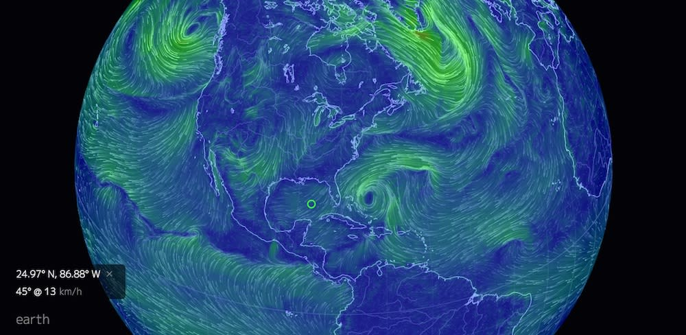 Beautiful Earth Visualization Shows the World's Weather in Motion