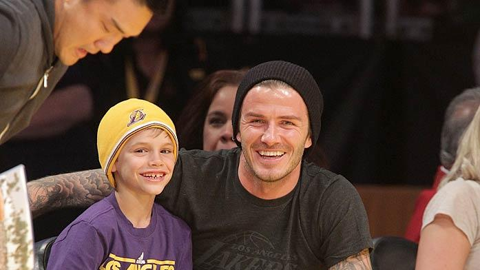 David Beckham Lakers Game