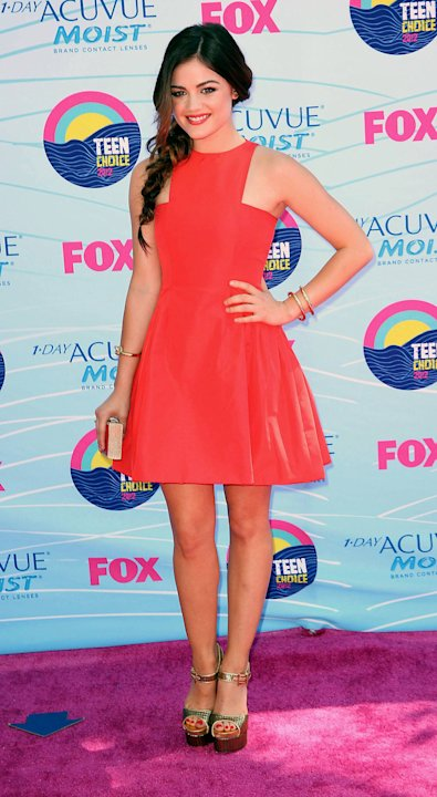 Lucy Hale,  at the 2012 Teen Choice Awards held at the Gibson Amphitheatre - Arrivals Universal City, California - 22.07.12 Mandatory Credit: FayesVision/WENN.com