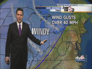 Monday's Forecast:: Windy, mild temps
