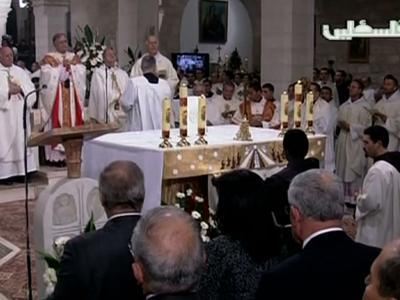 Midnight Mass Celebrated in Bethlehem