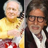 Pt Ravi Shankar Takes Amitabh Bachchan By Surprise!