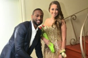 Dwyane Wade and Nicole Muxo at her prom &#x2014; Instagram