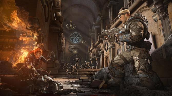 """This video game image released by Microsoft shows a scene from """"Gears of War: Judgment."""" (AP Photo/Microsoft)"""