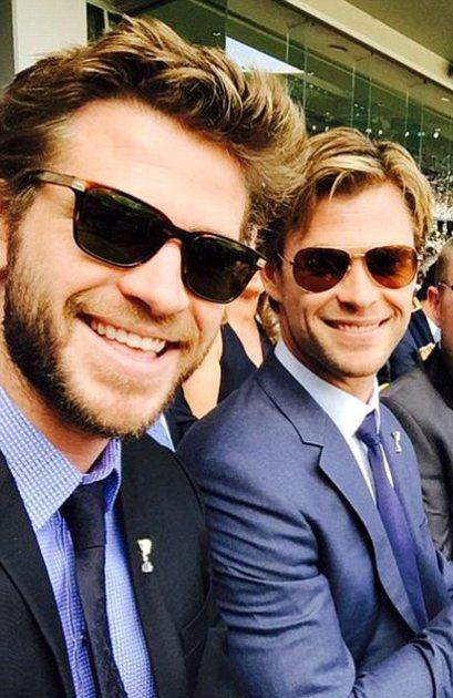 Hemsworth Brothers Suit Up!