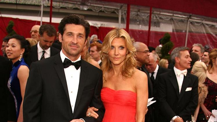 Patrick Dempsey and wife attend the 80th Annual Academy Awards. - February 24, 2008