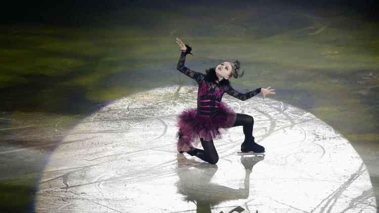 Radionova of Russia performs during gala exhibition at ISU Grand Prix of Figure Skating Final in Fukuoka