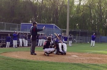 Student manager Drew Bonner took his lone varsity at-bat in a wheelchair — YouTube