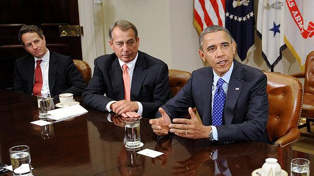 John Boehner, Timothy Geithner Report Little Progress on 'Fiscal Cliff'