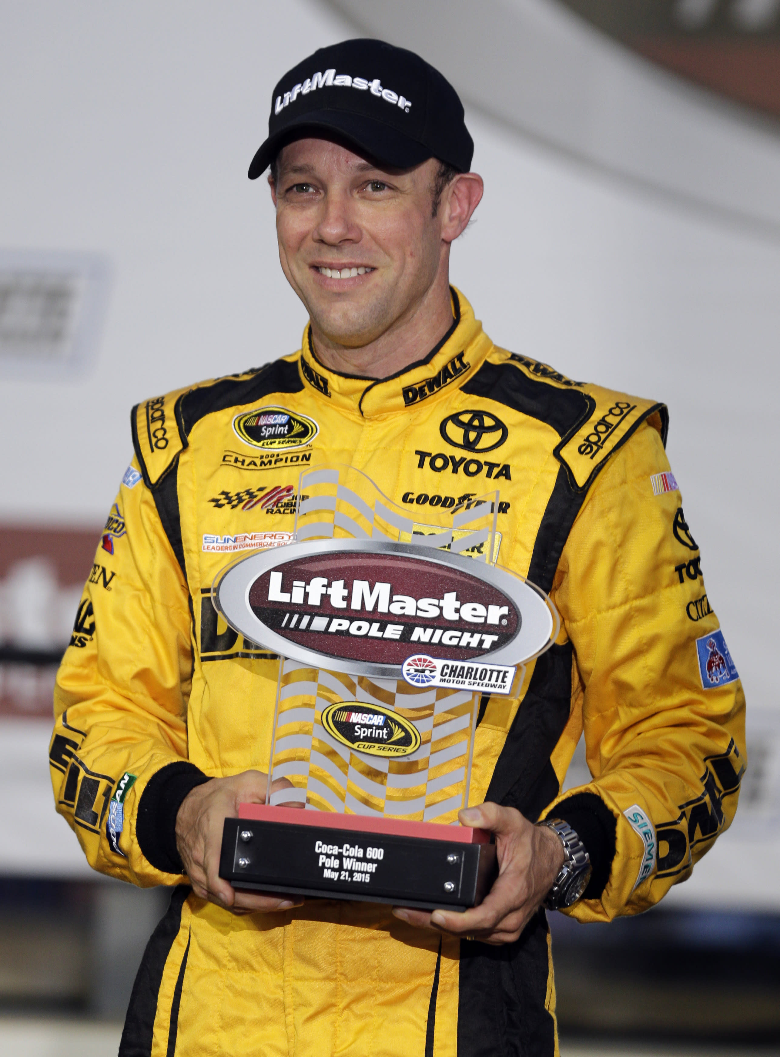 Kenseth wins pole for NASCAR's Coca-Cola 600