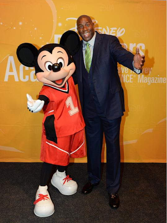 Magic Johnson Visits Disney Dreamers Academy event At Walt Disney World Resort