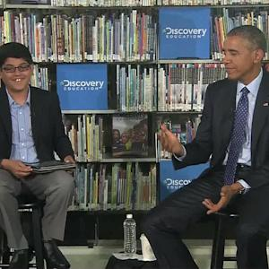 Sixth Grader Has No Problem Interrupting Obama