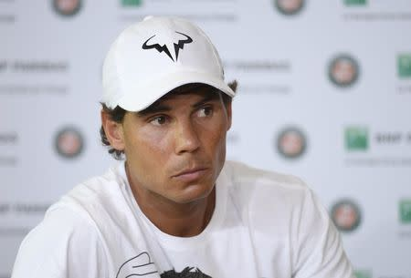 Tennis - French Open - Roland Garros - Rafael Nadal of Spain attends a news conference - Paris