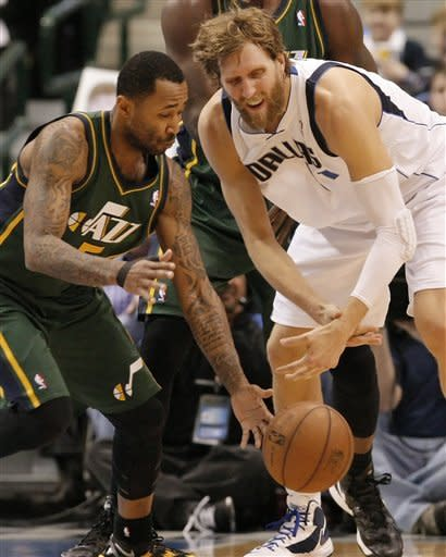 James, Nowitzki lead Mavericks past Jazz, 113-108