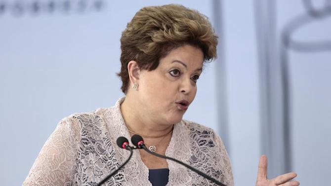Brazil's President Rousseff speaks during the 16th FINEP Innovation Award ceremony at the Planalto Palace in Brasilia