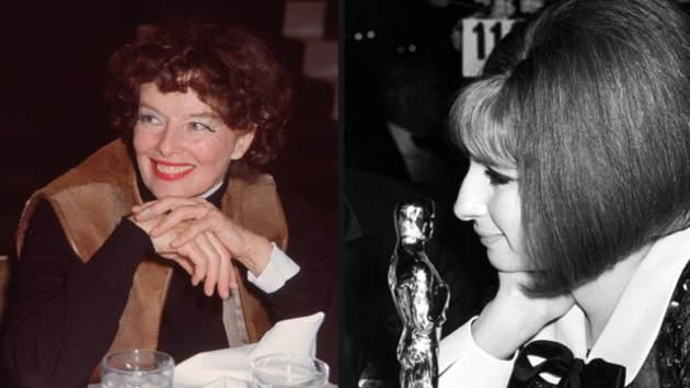 Katharine Hepburn, Barbra Streisand -- Getty Images