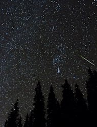 Astrophotographer Daniel McVey took this photo of an Orionid meteor in Summit County, CO, Oct. 21, 2012.
