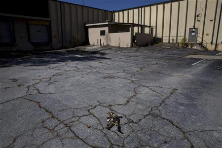 A shuttered factory closed by the manufacturing company BWAY in 2010 sits vacant in Toccoa