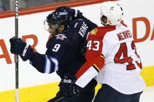 Kane leads Winnipeg Jets to 7-0 rout of Panthers